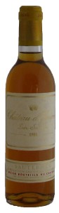 Chateau d'Yquem, 1er Grand Cru Classe, Half Bottle, 1988