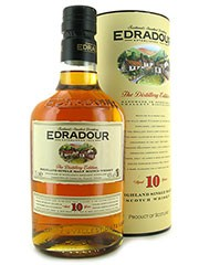 Edradour 10 Year Old Single Malt Scotch Whisky,