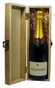 Champagne Bollinger Special Cuvee in Wooden Pine Gift Box