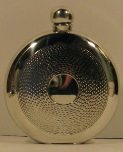 Hip Flask Pewter Round Et 6oz