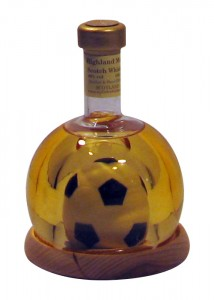 Mini Football in Bottle filled with 100ml Highland Malt Whisky