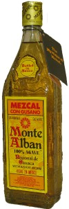 Mezcal Monte Alban with Agave Worm, Mexico