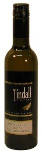 Sauvignon Blanc Tindall Vineyard Marlborough New Zealand, Half Bottle, 2010