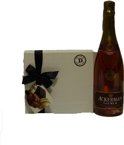 Saumur Rose Sparkling Wine and Luxury Chocolates,