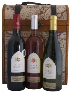 Three Bottle Captain Cook Wine Gift Box with Wines from Languedoc, France