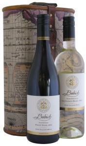 Two Bottle Captain Cook Wine Gift Box with Wines from New Zealand