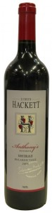 Anthony's Reserve Shiraz, Simon Hackett, McLaren Vale, 2014
