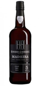 Madeira Wine Henriques and Henriques Finest Dry 5 Years Old,