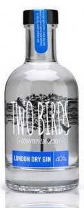Two Birds London Dry Gin, 200ml,
