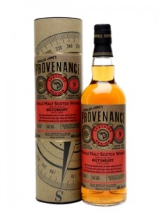 Miltonduff 9 Year Old Douglas Laing Provenance Speyside Single Malt Scotch Whisky,
