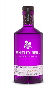 Rhubarb & Ginger Gin, Whitley Neill,