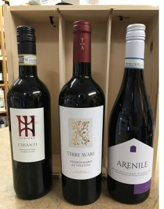 Italian Red Wines in Wooden Gift Box,