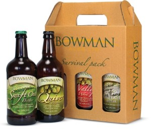 Beer 3bt Gift Pack, Bowman Ales, Hampshire,