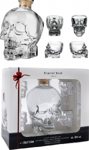 Vodka Crystal Head and Shot Glasses Gift Set,